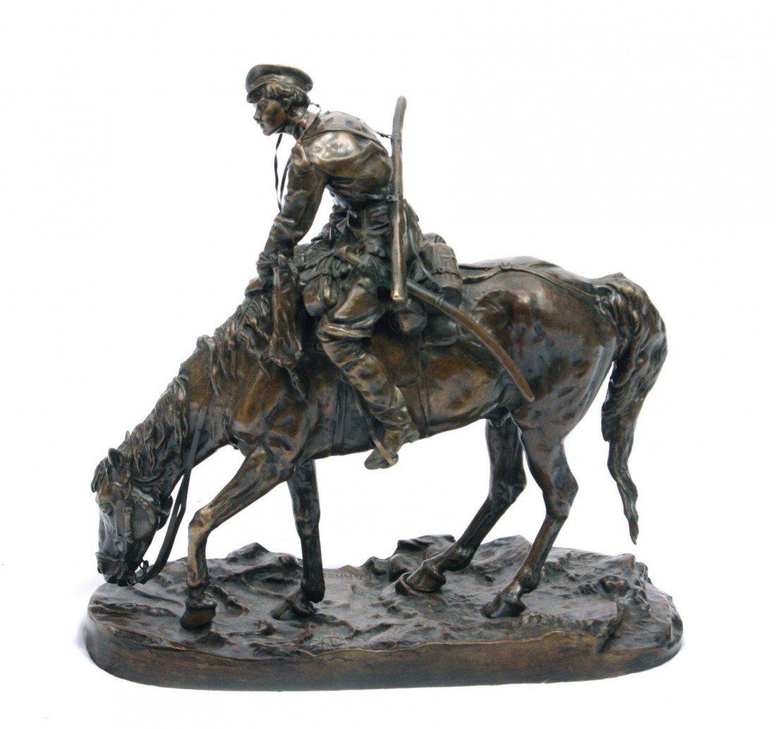 335: Russian Bronze sign. Evgeni Alexandrovich Lanceray