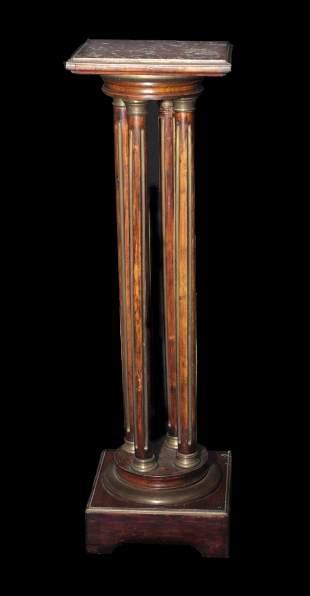 19th Century Walnut Louis Phillipe Style Bronze