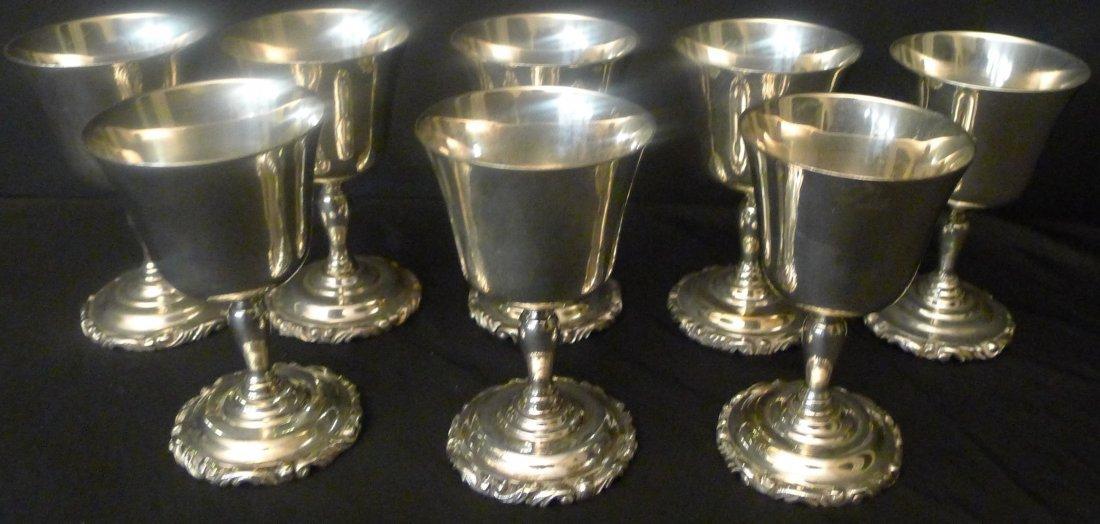 8 Sanborns  sterling goblets