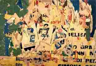 MIMMO ROTELLA, Conservate queste figurine!, 1961