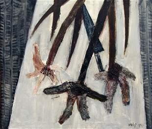 RODOLFO ARICÃ', Fiori grigi, 1957