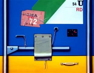 PETER KLASEN, Container bleu/jaune 54U, 1978