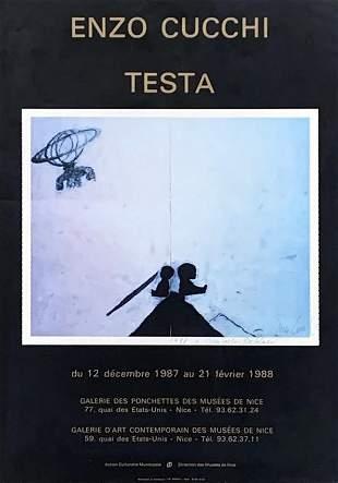 ENZO CUCCHI, Testa, 1987/1988