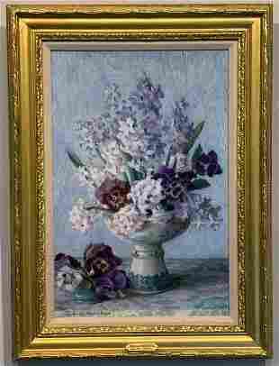 "Adele Herter (1869-1946)  ""Gladiolas Bouquet"""