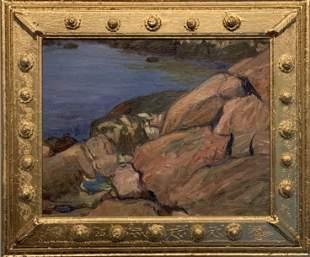 "Agnes Millen Richmond (1870 - 1964)""Rocks by the Sea"""