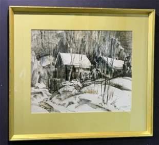 "John Edward Costigan (1888-1972)""Cabin in the Woods"""