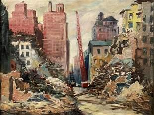 "Saul Kovner (1904-1981)""City of Collapse"""