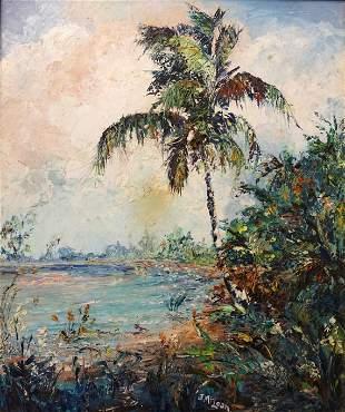 "Jack Lee McLean (1924 - 2003) ""Paradise Palm"""