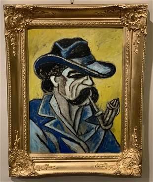 Hugo Scheiber (1873-1950) Blue Pipe Dream