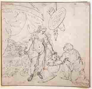 """Gerard De Lairesse (1640 -1711)""""Salome & John"""""""