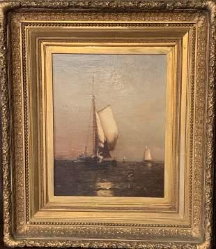Arthur Quartley (1839-1886) Open Sailing