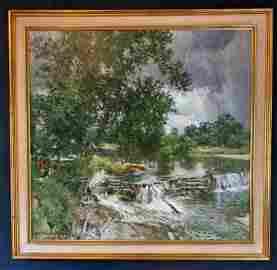 "Howard Chandler Christy (1872-1952)""Passing Showers"""