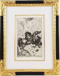 "Salvador Dali ""St. George & The Dragon"" - 1947"