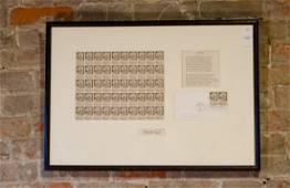 Signed Robert Frost & Stamp & Poem Framed Collection