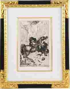 SIGNED&STAMPED 1947 Salvador Dali St.George&The Dragon