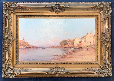 Charles Malfroy (1872-1918) Fishing Village Harbor