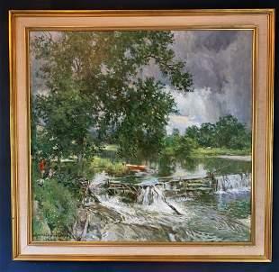 Howard Chandler Christy (1872-1952) Oil from 1946