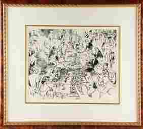 Leroy Neiman (1921-2012) Game of Life Signed / Numbered