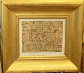 Stuart Davis (1892 - 1964) Study - Framed Ink