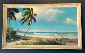 Sam Newton (1948) Florida Highwaymen - Seaside Palms