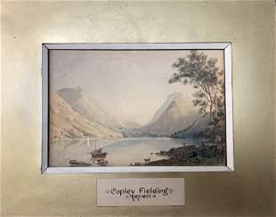 Copley Fielding (1787-1855) Water Landscape Watercolor