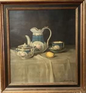 Janos Pentelei-Molnar (1878-1924) Tablecloth Still