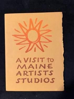 RARE! 1967 MAINE ART BOOKLET MULTIPLE FAMOUS SIGNATURES