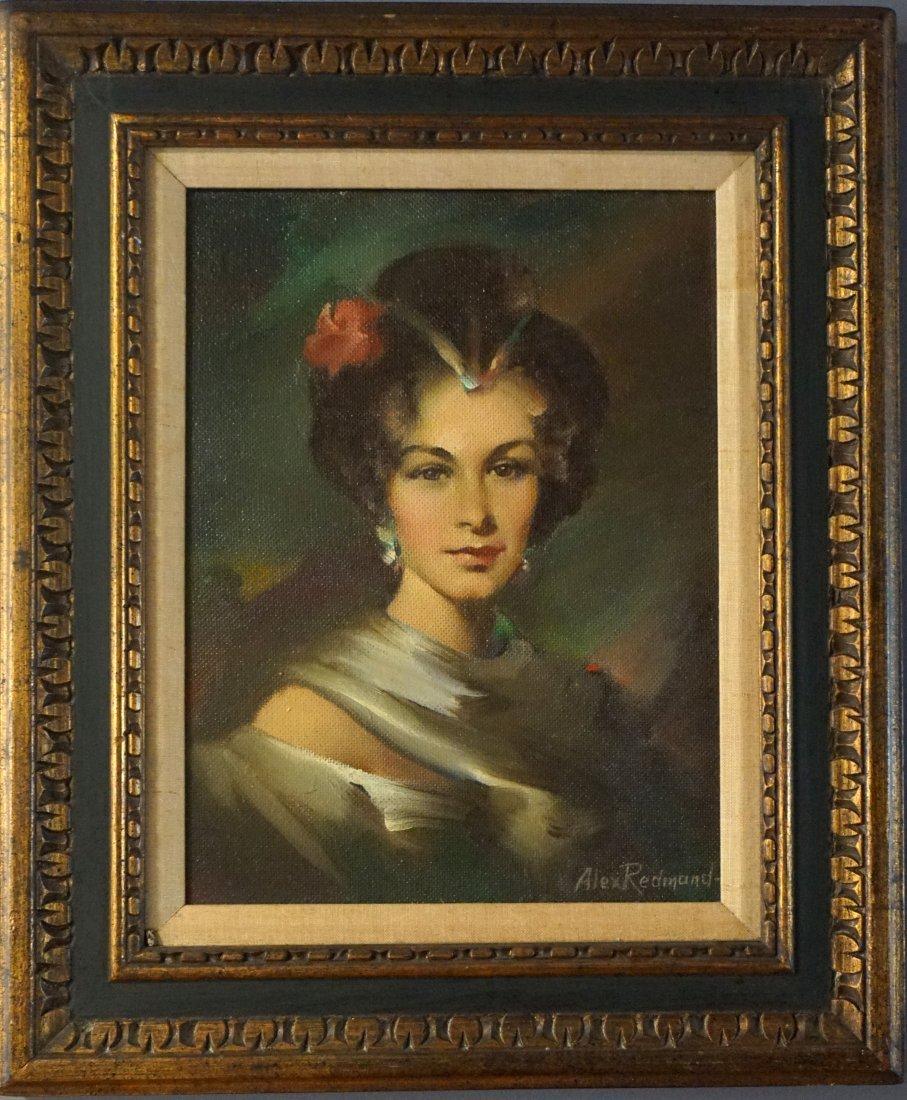 Alex Redmond  (1902 - 1975) Glamour - Oil on Board