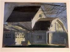 David Fertig (b.1946) This Old House - Framed Pastel