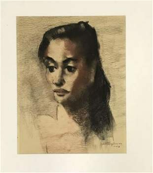 Abraham Baylinson (1882-1950) Portrait of Woman - 1943