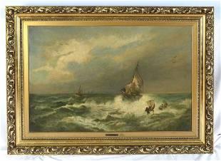 Thomas Miles Rose (1844-1916) Shipwreck - Oil Painting