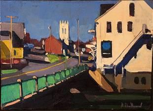 Alfred Chadbourn (1921-1998) Bridge Damariscotta, 1979