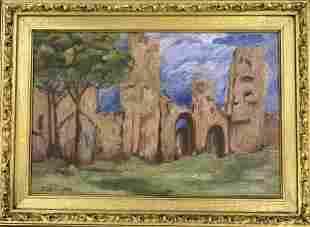 Konstantin Korovin (1861-1939) Pueblos Attributed