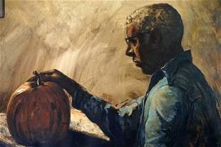 Stephen Morgan Etnier (1903-1984) Pumkin Carving - 1964