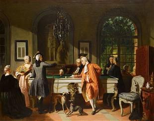 Jean Carolus (1814-1897) The Billiard Game