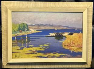 Ohannes Alhazian (1881 -1958) Voiles du rivage