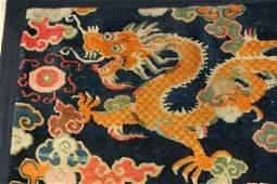 A Fine Dragon Handmade Wool Rug, Tibet, 19th century