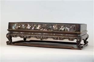 A Mother-of-Pearl-Inlaid Hongmu Stand, Vietnam, 19th c.