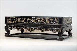 A Mother-of-Pearl- Inlaid Footed Tray, Vietnam, 19th c