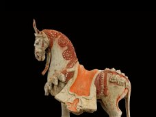 Figure of a Caparisoned Striding Horse, TL test - China