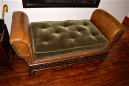 19th Century Couch with Hand carved Sidings