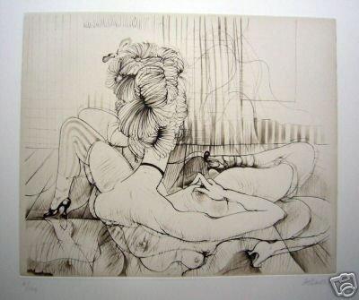 23: BELLMER, HANS  original handsigned etching
