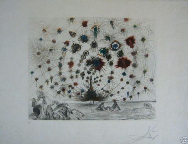 60: DALI, SALVADOR  original etching ARGUS - handcolore