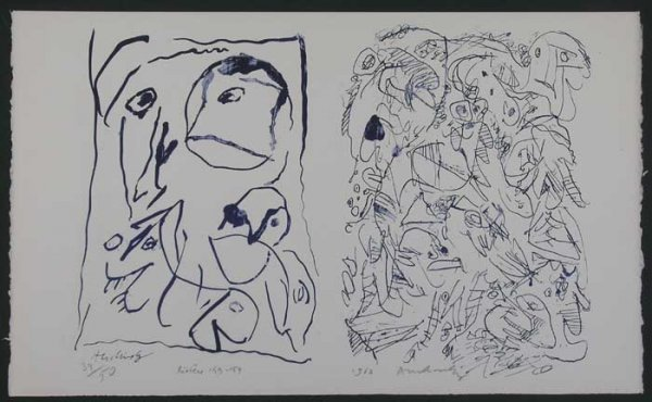 1003: ALECHINSKY, PIERRE, SIGNED LITHOGRAPH FROM 1962