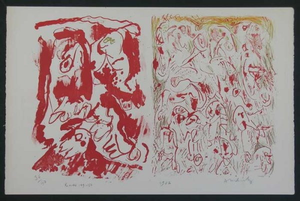 1004: ALECHINSKY, PIERRE, SIGNED LITHOGRAPH FROM 1962