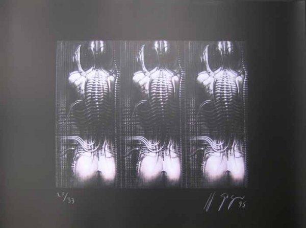 1094: GIGER, HANS-RUDOLF: Signed Silkscreen from 1995
