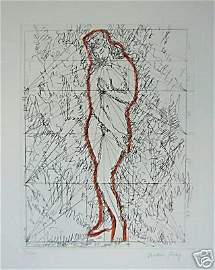 1126: MAN RAY Original handrehaussed etching 1972
