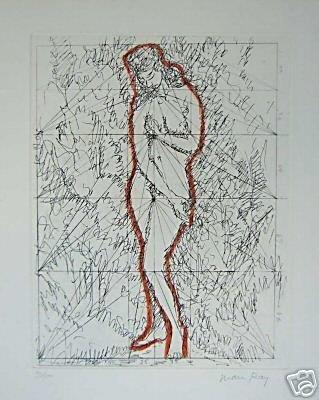 1126: MAN RAY Original handrehaussed etching 1972