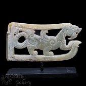 Chinese Jade Pixiu Pendent, Western Han, 206 BC - 24 AD