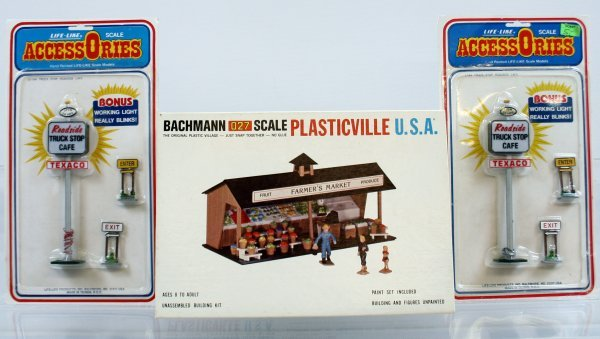1: BACHMANN 027 SCALE PLASTICVILLE FRUIT STAND